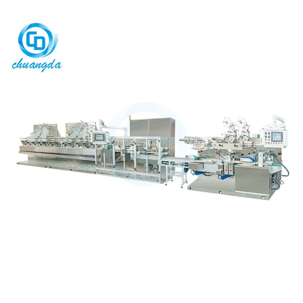CD-2000H FULL AUTO 30~120PCS WET WIPE MAKING MACHINE LINE WET TISSUE PRODUCTION MACHINE