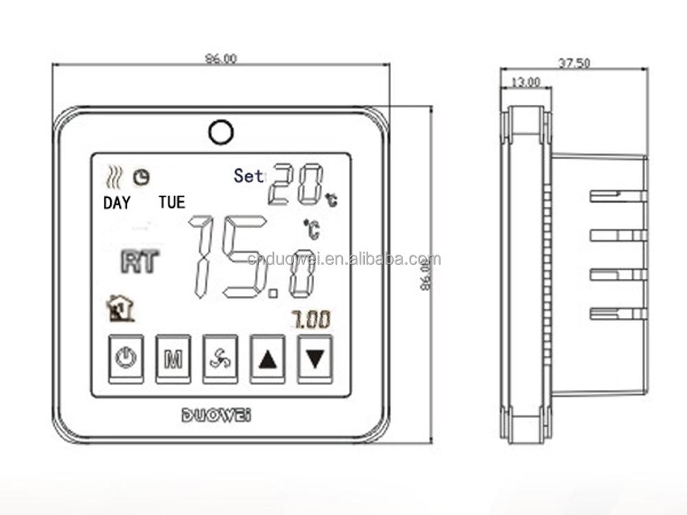 Weeek programable de suelo radiante termostato utiliza - Suelo radiante electrico precio ...