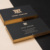 black standard size metalized gold foil letterpress craft paper ultra-thin gold stamping business card