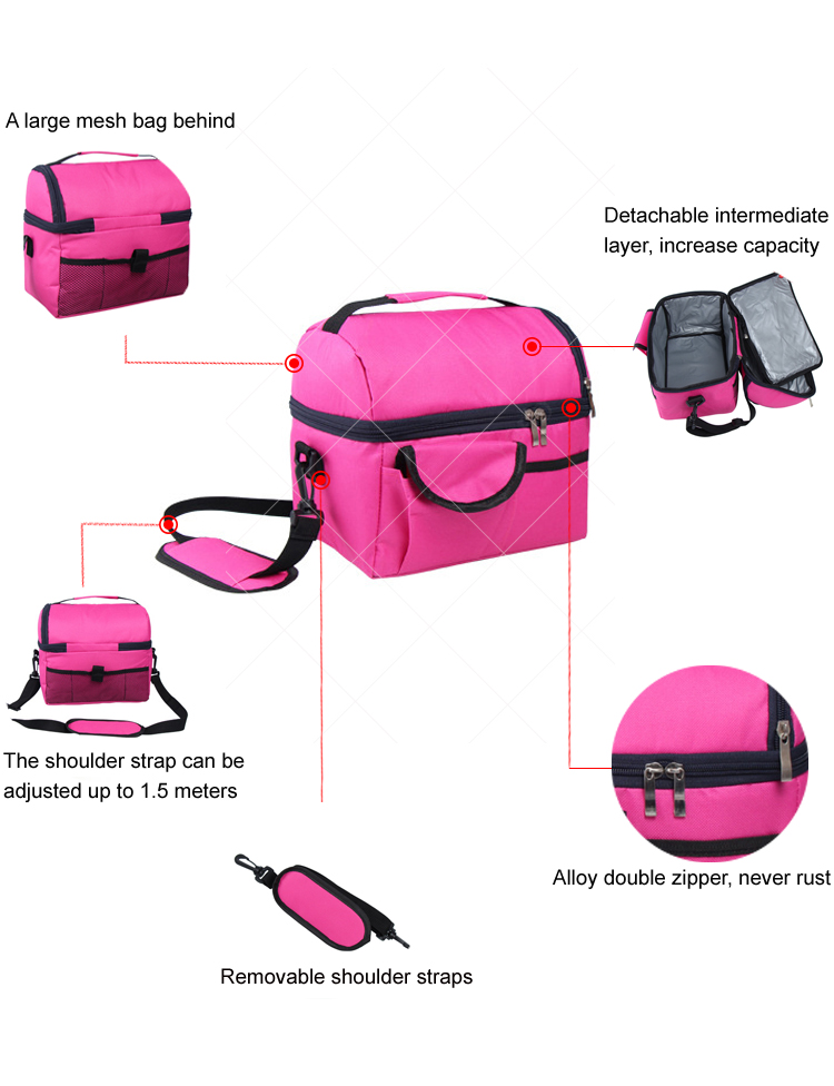 Compartment Picnic Ice Cream Whole Foods Cooler School Insulated Lunch Box Bag lunch bag kids