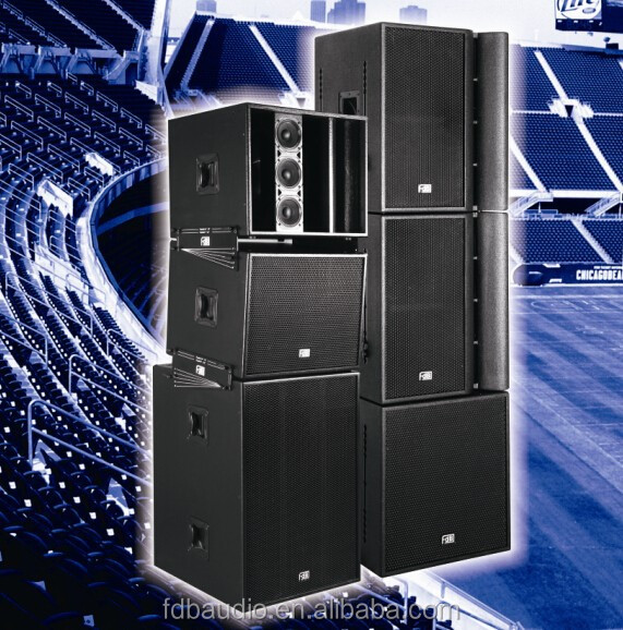 Outdoor Speakers System 3-way Full Range Stacking Line Array