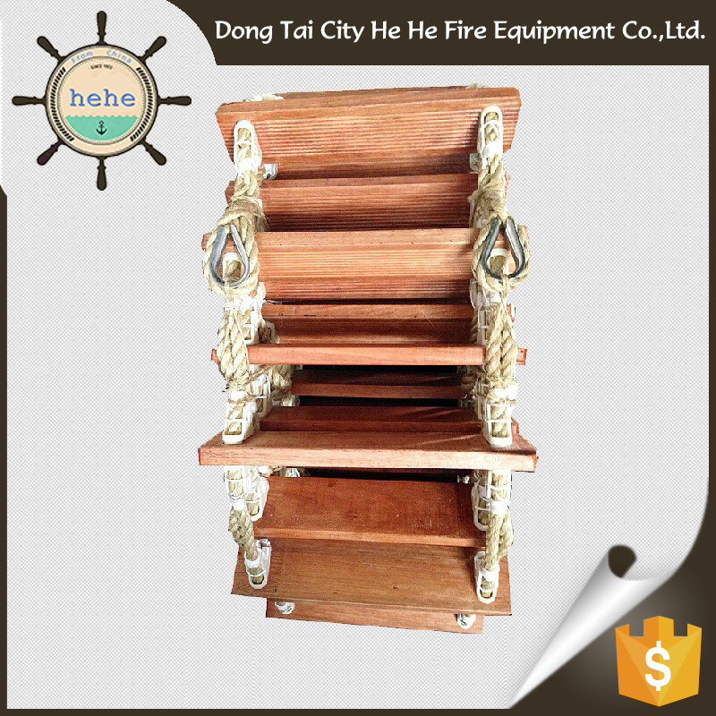 Wholesale Luxury Ship Embarkation Adult Wooden Rope Ladder