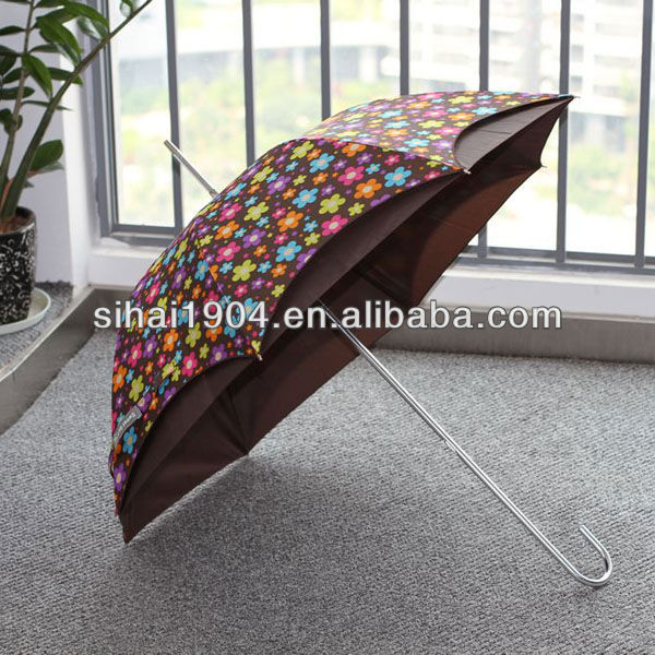 23 inch 8 panel Art work straight umbrella with lining