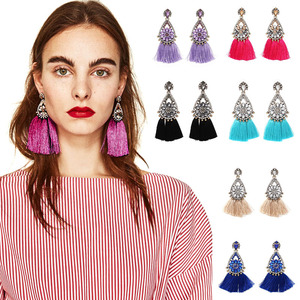 Dvacaman Tassel Earrings For Women Exaggerated Ethic Bohemia Large Big Long Fringe drop Earrings Vintage Statement Jewelry A26