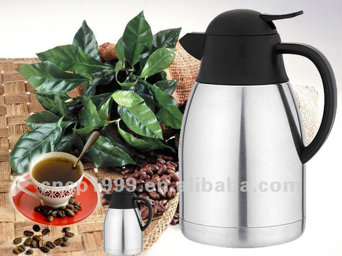 High quality double wall stainless steel coffee pot