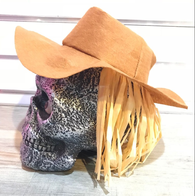 Atacado decoração do partido adereços esqueleto de halloween com chapéu