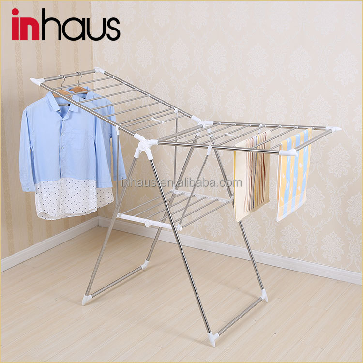 Heavy duty plegable soporte colgante portable ropa for Tendedero de ropa interior