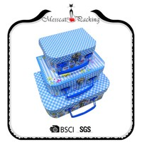 New product decorative luxury cardboard paper suitcase favors paper gift box