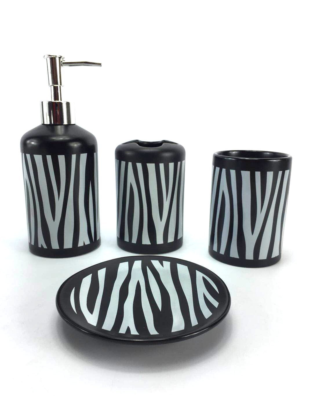 Zebra Print Bathroom Set Find