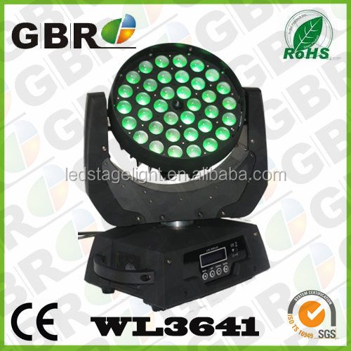 GBR Professional Stage Lighting Eternal Max Wash 360 Zoom Robe Robin 600 4in1 RGBW 36pcs 10w LED Moving Head light