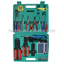 Multifunctional Network Tool Kit Box with Crimping Tool/Cable Tester/Punching Tool