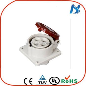 4 Pin Industrial Socket Iec 309 16a 16a 380v 4-pole Industrial ...
