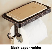 Новый держатель для туалетной бумаги, старинная резьба, мобильный телефон, рулон бумаги, настенный бумажный держатель для телефона 6P XT1022(Китай)