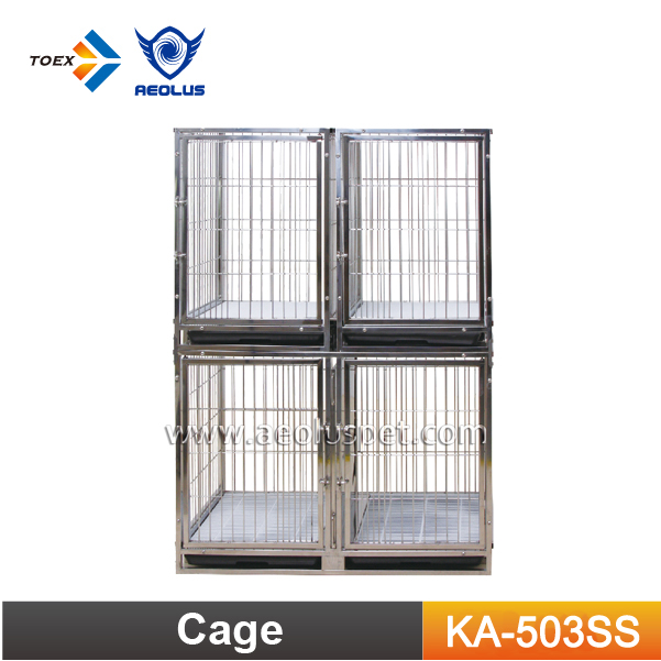 KA-503SS Foldable Stainless Steel Large Dog Kennels Pet Dog Crate