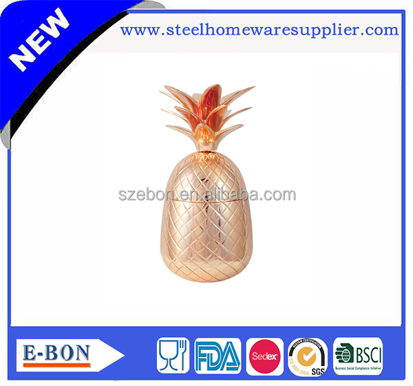 High quality copper food standard heavy copper pineapple cup