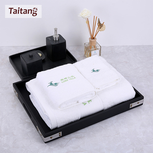 Good Quality Custom Soft Plain White100% Cotton Hotel hand/face/bath towels for bathroom