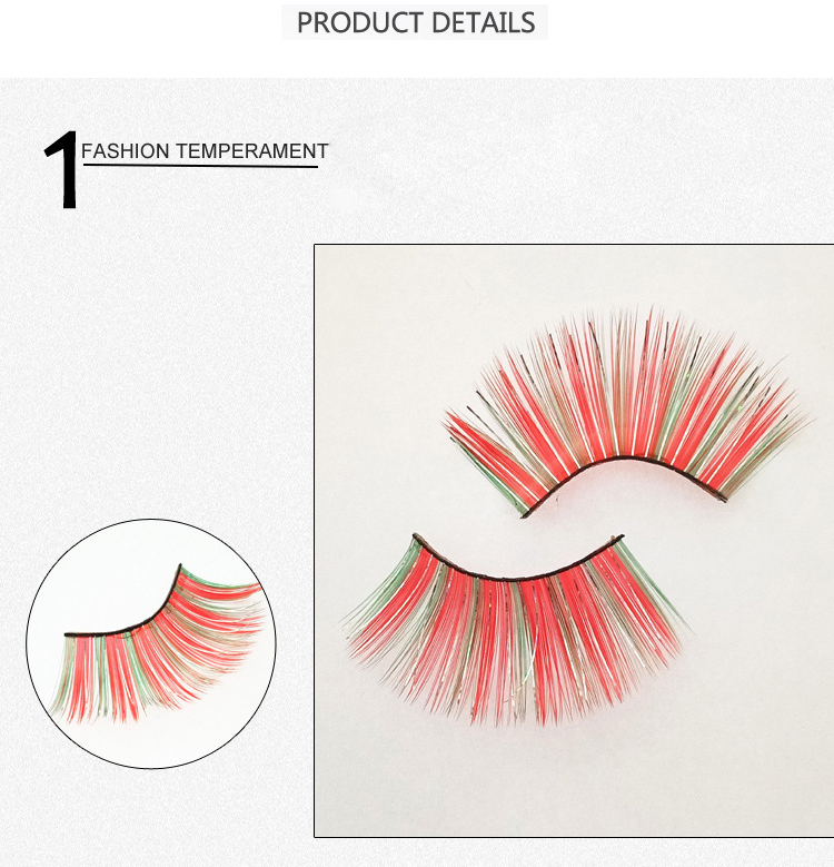 Colorful pair of clothes exaggerated fashion false eyelashes