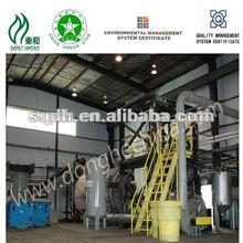 extract fuel oil from waste tyre/rubber with continuous system
