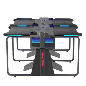 wholesale internet cafe gaming computer desk with suitable gaming chair