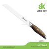 Super quality pakka wood bread knife stainless steel bread knife forged handle kitchen bread knife