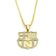 Fashion jewelry gold football army card Europe and America hiphop crystal pendant necklace