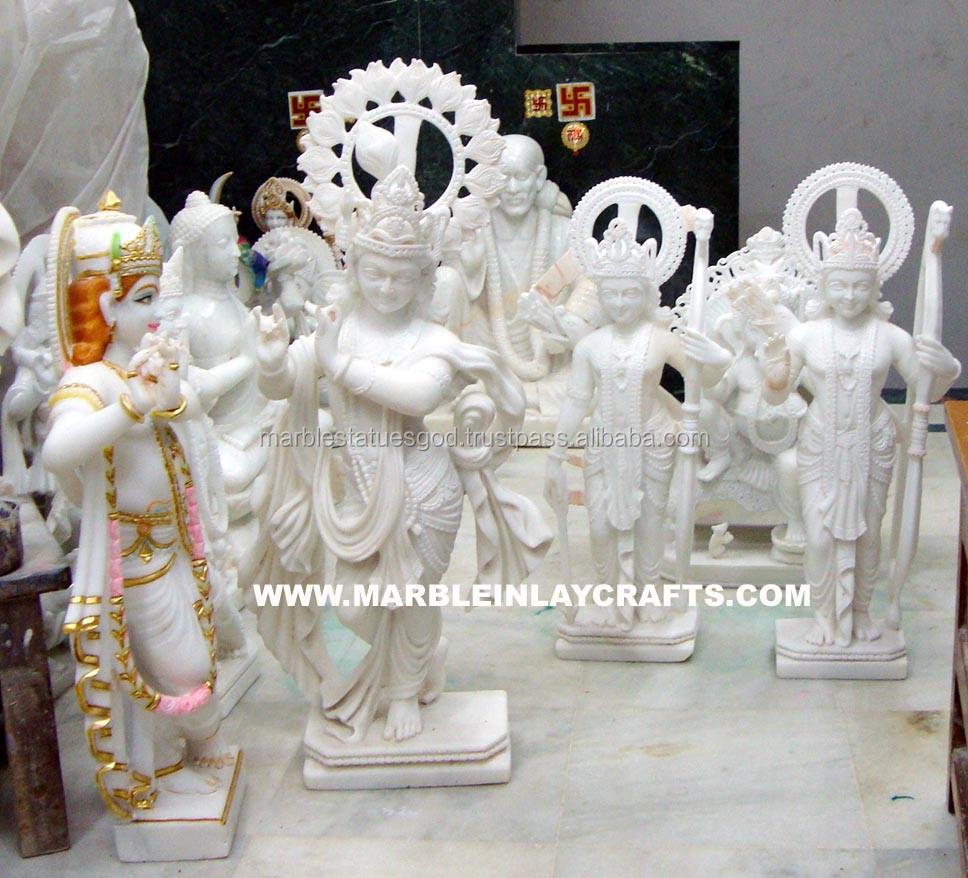 Shri Krishna Marble Statue For Home Temple - Buy Makrana Marble ...