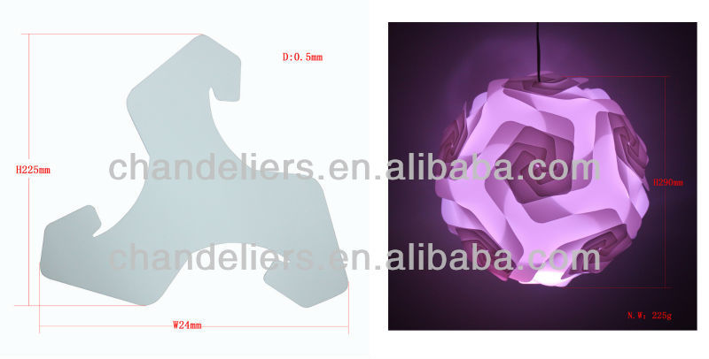 2014 new design iq lamp shade puzzle lamp jigsaw lamp infinity