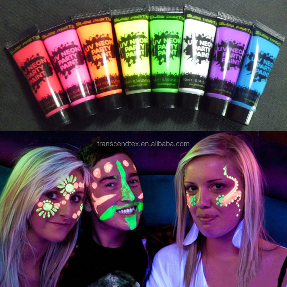 ใหม่ UV GLOW นีออน FACE BODY PAINT PARTY FACE PAINT