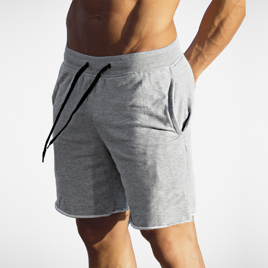 High quality cotton gym clothing fitness men shorts