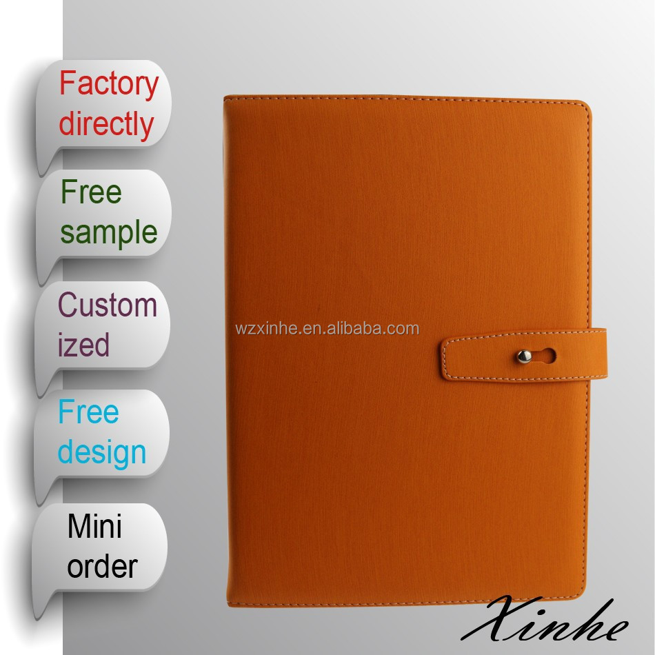 2015 new arrival A4/A5/A6 fancy diary notebook with closure for promotion