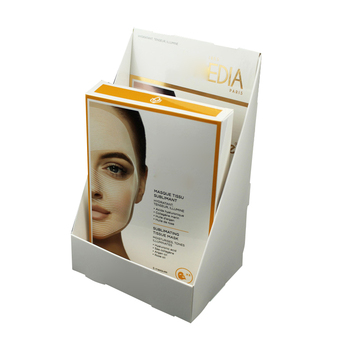 Cosmetic facial mask packaging corrugated display box
