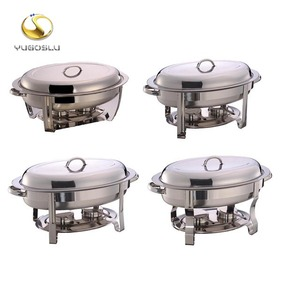 #836 5.5L 6.8L Classic Hot sale top quality hotel restaurant OVAL design stainless steel chafing dish for buffet service