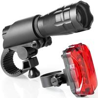 Bicycle light taillight set bicycle headlights + taillights + frame light stand combination in stock Bicycle Accessories