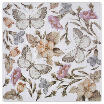 Factory Custom Wootile Brown Butterfly Wall Tiles Decals DIY Wallpaper Kitchen Backsplash Tile