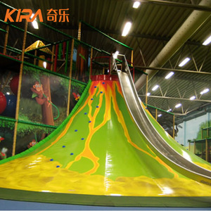 Kids Indoor Playground Climbing Equipment Inflatable Volcano Slide