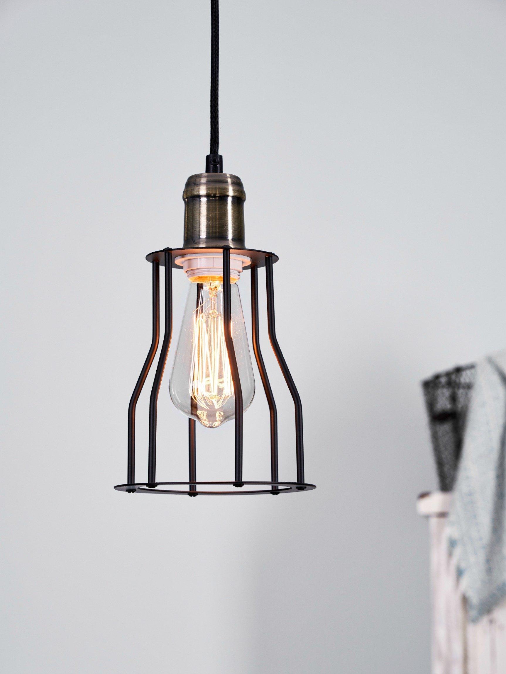 Get Quotations · LightLady Studio   Industrial Mini Pendant Light   Cage  Pendant Light For A Vintage Look