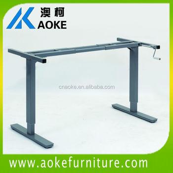 Metal Mechanism Hand Crank Height Adjustable Table Baseframe