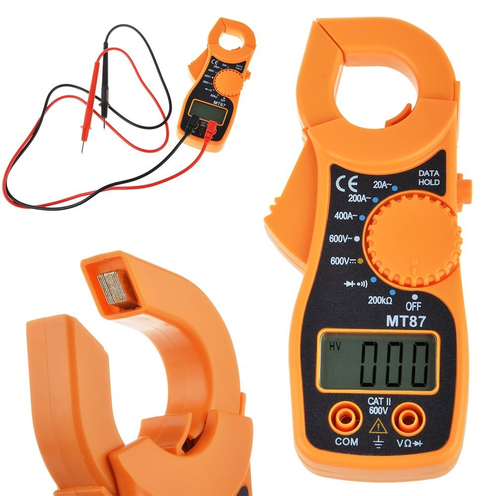 Flashmen Current Voltage Tester LCD Auto Digital Multimeter Electronic Automatic Tester AC/DC Clamp Meter