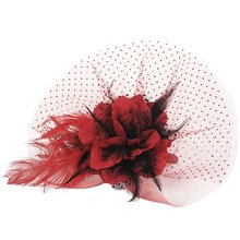 Red Fashion Elegant Flower with Setting Hair clip bridal flower headwear