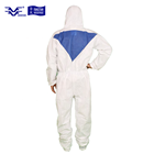 Microporous Combines SMS Disposable CE Coverall Type 5 6 with Hood