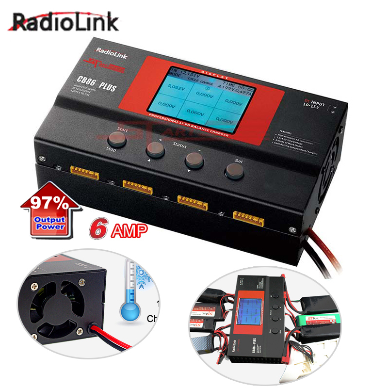 Radiolink Balance Charger CB86 Plus For 8pcs 2-6S Lipo Battery At One Time
