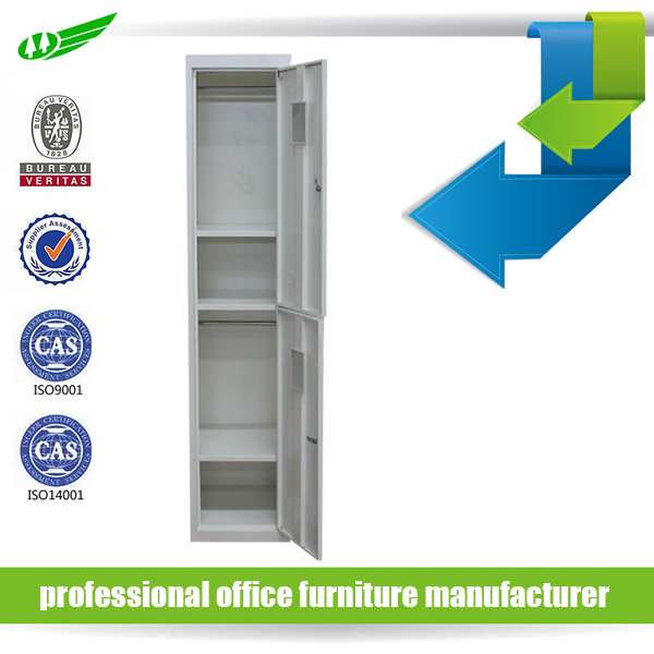 dormitory used 2 tier 2 doors white closets locker with mirror
