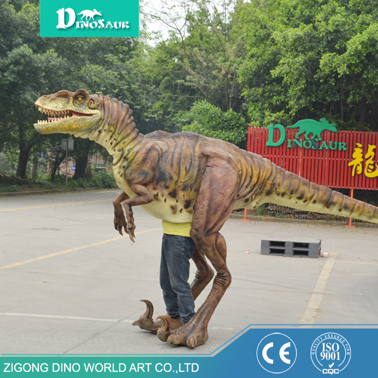 Top quality modern waterproof material orange dinosaur mascot costume/fur dragon mascot costume