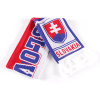 F01 wholesale custom design acrylic knitted soccer fan football scarf