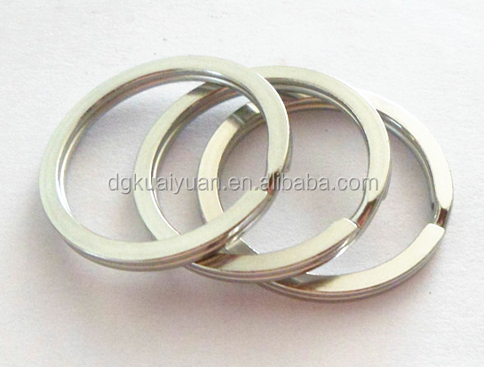 Wholesale Smooth Finish 15mm 20mm 25mm 30mm 33mm Flat Stainless Steel split key ring