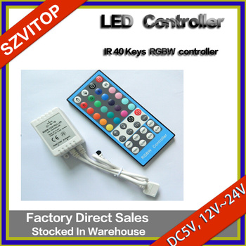 40 toetsen rgbw led ir controller dc5v 12v 24v snelheid helderheid aanpassingen kleur selectie - Kleur selectie ...