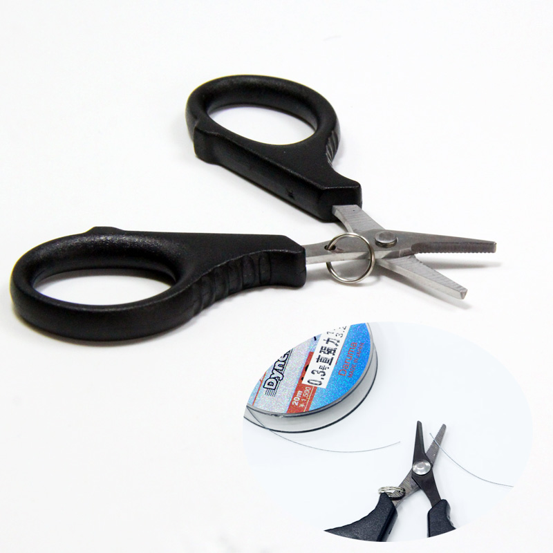 Multi purpose Fishing Scissors Stainless Steel Fishing Line Cutter Fish Hook Remover Fishing Pliers Serrated Cutter