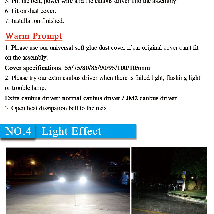 Factory price auto lighting h7 car bulbs supplier high power all in one canbus car led headlight bulb h7