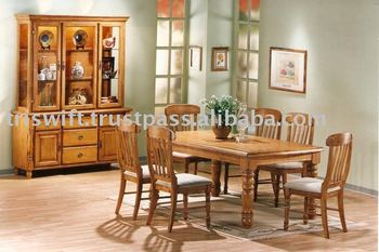Classical Dining Set Classical Wooden Dining Chair Buffet Cabinet