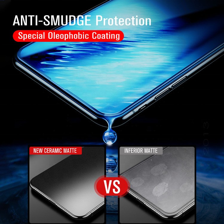 Best Anti glare Glass 9D Full Screen Coverage For iPhone Xs max Matte Nano Screen Protector